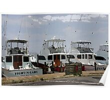 Oregon Inlet Boats Poster