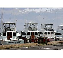 Oregon Inlet Boats Photographic Print