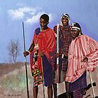 Maasai Warriors by arline wagner