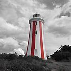 Devonport Lighthouse a touch of colour by Paul Campbell Psychology