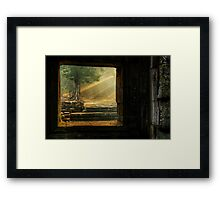 Early Mornining Light - Ta Prohm Temple Framed Print