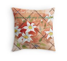 Affirmation for PEACE 2 Throw Pillow