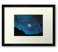 Mystery Over Northern Lights Framed Print