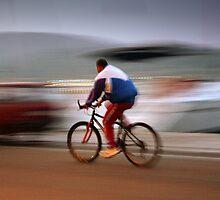 man on bicycle. Croatia by Gideon du Preez Swart