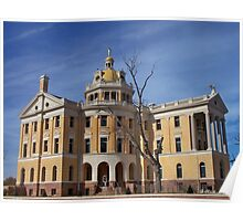 Romanesque - Architectural design of Marshall, Texas courthouse Poster