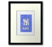 Yankees New Year Framed Print