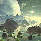 Planet Rise over New Eden by SpinningAngel