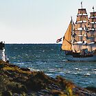 Newport, RI, a tall sailing ship by Joe Bashour