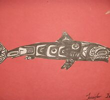 Northwest Native influence of Shark by Jennifer Ingram