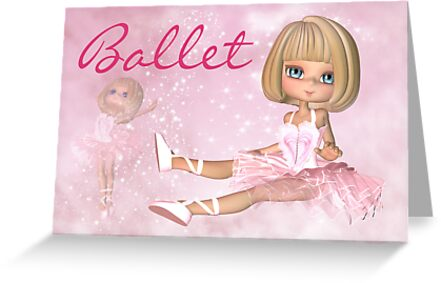 Any Occasion Ballet - Ballerina Greeting Card by Moonlake