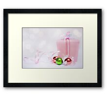 Christmas is not as much about opening our presents as opening our hearts... Framed Print