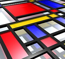 Mondrian Inspired 3D by ArtPrints