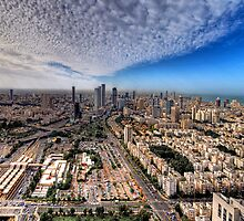 Tel Aviv Skyline  by Ronsho