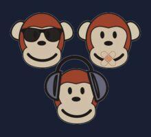"Three Wise ""n"" Funky Monkeys Kids Clothes"