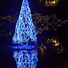 Blue Christmas Tree by Carol Clifford