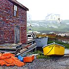 Yellow Skiff - Peggy's Cove by Frank Boudreau