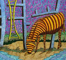 315 - DONKEY WILDERNESS - DAVE EDWARDS - MIXED MEDIA - 2010 by BLYTHART