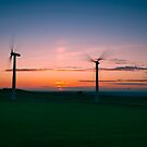 Wind Farm Sunrise by picturistic