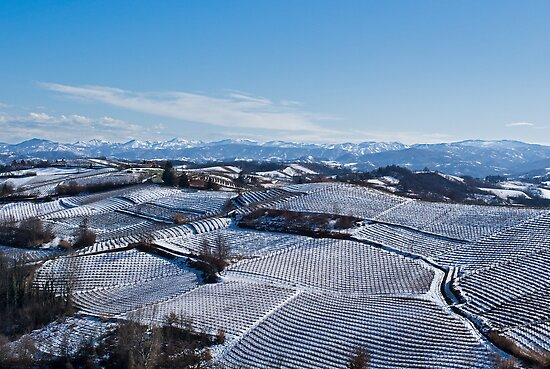 Snow landscape in Piemonte by Karen Havenaar