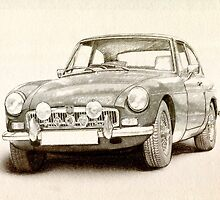 MG MGB MkII by ArtPrints