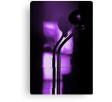 freakin in a purple haze... with a snake lamp Canvas Print