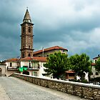 Dark clouds over Monastero Bormida by Karen Havenaar