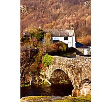 Cottage on the River Duddon Photographic Print