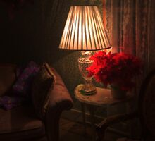 Lamplit Poinsettia by Terence Russell