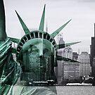Statue of Liberty meets Manhattan by smilyjay