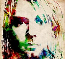 Kurt Cobain Urban Watercolor by ArtPrints