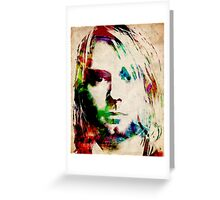 Kurt Cobain Urban Watercolor Greeting Card