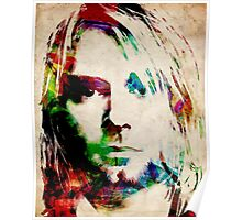 Kurt Cobain Urban Watercolor Poster
