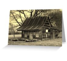 Vintage Dollhouse Cabin Greeting Card
