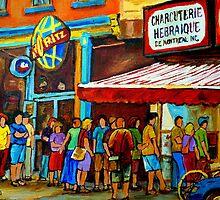 Schwartz's Deli Montreal by Carole  Spandau