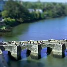 The Pont de St Goustan  -  Auray - Brittany - Tilt Shift Effect by Buckwhite