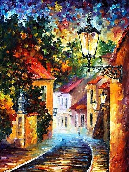 EVENING - Original Art Oil Painting By Leonid Afremov by Leonid  Afremov
