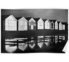 Beach Huts - UK Poster