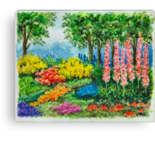 THE KEUKENHOF IN 2009 - WATERCOLOR PAINTING Canvas Print