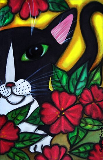 Cat Flowers by dreamlyn
