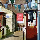 Small Side Street In Lyme Regis by lynn carter