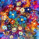 Vibrant abstract flowers painting by Svetlana  Novikova