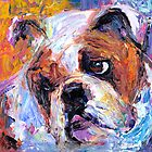 Bulldog dog painting Svetlana Novikova by Svetlana  Novikova
