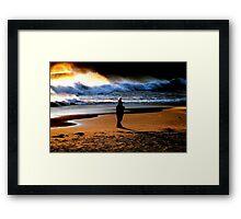 BEACH COMBING... Framed Print