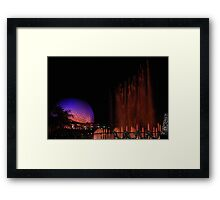 Playing Fountain Framed Print
