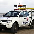 Lifeguard Patrol Vehicle - Skegness by Stephen Willmer