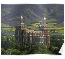 Logan Temple in Green Fields 20x24 Poster