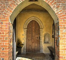 St Mary the Virgin Medieval Church Porch, Kettlebaston by Christopher Cullen