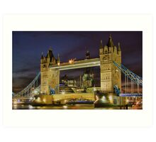 Tower Bridge And The Shard Building - HDR Art Print