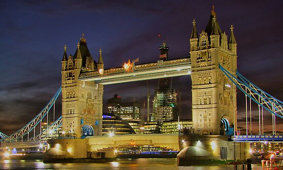 Tower Bridge And The Shard Building - HDR by Colin J Williams Photography