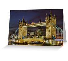 Tower Bridge And The Shard Building - HDR Greeting Card